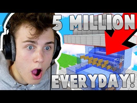 THiS AUTO COBBLESTONE GENERATOR COULD MAKE YOU $5 MiLLiON+ A DAY!! (Minecraft SkyBlock)