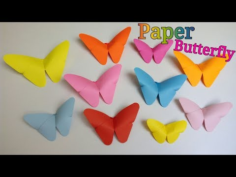 Paper Butterfly | How To Make Paper Butterfly | How To Make an Origami Butterfly | DIY Butterflies