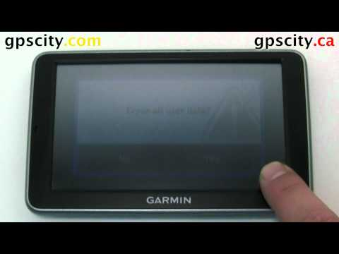 How to Reset the Garmin nuvi 2450 and 2460 with GPS City