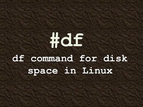 df command for disk space in linux