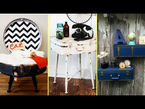 💙 DIY Vintage shabby chic style suitcase decor Ideas❤ |Home decor | Repurposed Old Suitcases | 💙