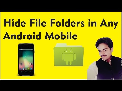 How to Hide File Folders in any android Mobile in Urdu / Hindi