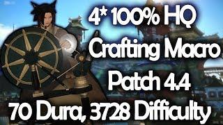 Final Fantasy XIV 4 2 lvl 70 3star (35 durability) crafting rotation