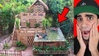 رجل الغابة يبني مسبح اسطوري !!!