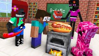 Monster School : HEROBRINE GIRL COOKING CHALLENGE NEW EPISODE - Minecraft Animation