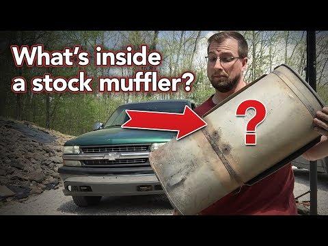 What's inside a stock muffler? - Cutting open Silverado muffler - How a muffler works