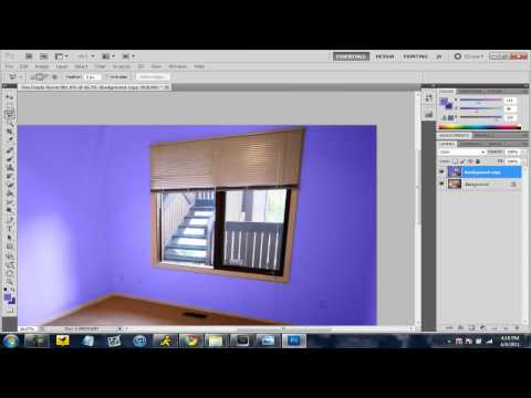 Design and paint rooms using Photoshop CS5 (Voice Tutorial)