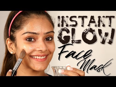 DIY Instant Glow Face Mask | Home Made Facemask | How To Get Instant Glowing Skin | Foxy Makeup
