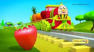 हम्प्टी ट्रैन और उसके फल दोस्तों से मिलिए  | Humpty train on a fruits ride | hindi | kiddiestv hindi