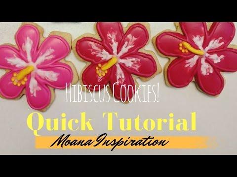Hibiscus cookie (quick cookie tutorial)