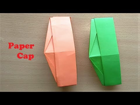 Paper Cap - Paper Hat - Ghandi Topi - How to Make Paper Hat - Indian Cap