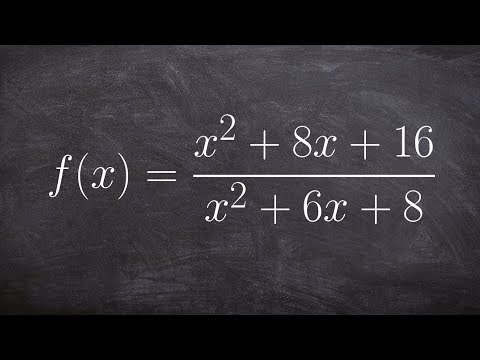 How to find and identify the discontinuities of a rational function