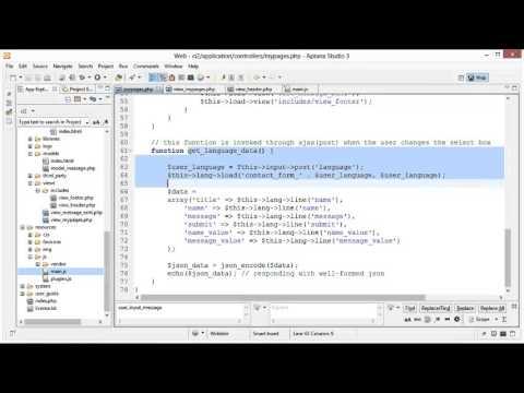 CodeIgniter Tutorial 17 - Language Class (part 4 of 4)