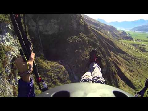 Treble cone - Paragliding next to Water Falls