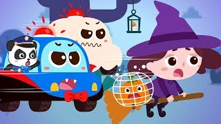Download Scary Witch's Catching Pumpkins | Super Police Patrol Team | Halloween Songs | BabyBus Cartoon Video