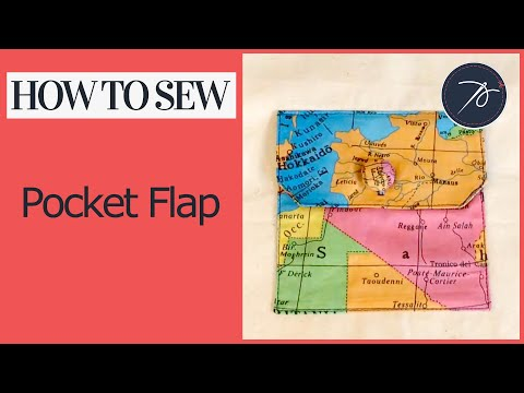 How to add a pocket flap to your patch pocket
