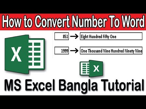 How To Convert Number Into Word In Excel Formula | Excel Bangla Tutorial 2018