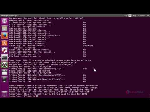 How to Install lm_sensors on Ubuntu 16.04