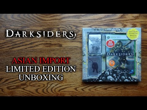 Darksiders Asian Import Limited Edition w/ Pre-Order Bonuses Unboxing & Review - HD 1080p