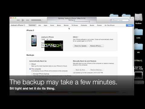 How to backup iPhone iPad iPod on a computer