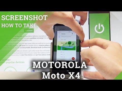 How to Capture Screen in MOTOROLA Moto X4 - Take Screenshot  HardReset.Info