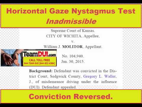 Horizontal Gaze Nystagmus Test | Inadmissible | HGN test | Cannot be used to Arrest or Convict