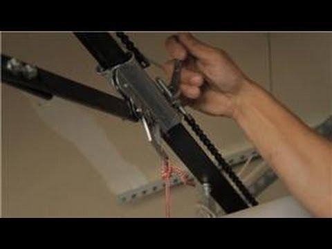 Garage Door Help : How to Adjust the Chain on a Garage Door Opener