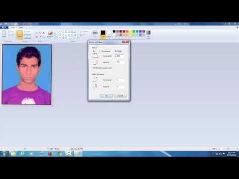 How to crop, resize or change image extension using Paint