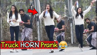 Truck H-O-R-N Prank (FUNNY REACTIONS) - Pranks in Pakistan - LahoriFied