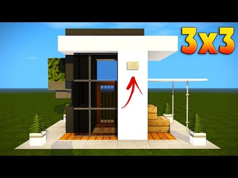 Minecraft: 3x3 Modern House tutorial - Easy Base Tutorial (Everything You Need To Survive!)