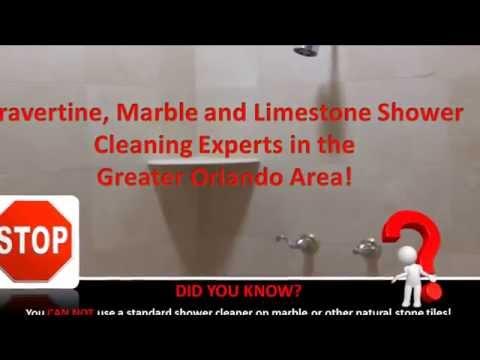 Cleaning Travertine Tile Shower Alturas FL 407-809-5794