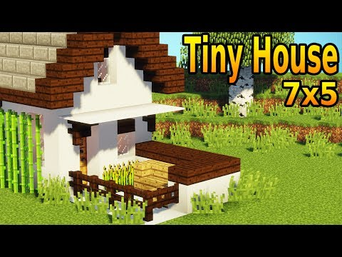 Minecraft: How To Build A Tiny House Tutorial #1 | Minecraft | Easy