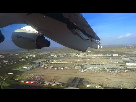 CITYJET Avro RJ85 (for Air France) ONBOARD Takeoff from Paris CDG Airport!