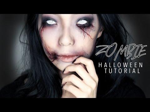 Creepy Zombie Girl Halloween Makeup Tutorial