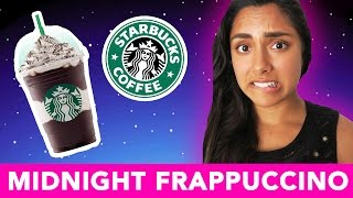 TRYING THE MIDNIGHT MINT MOCHA FRAPPUCCINO! (STARBUCKS LIMITED EDITION) 🌚
