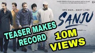 SANJU Teaser makes Record, Ranbir Kapoor Breaks bollywood Record from the teaser of sanju