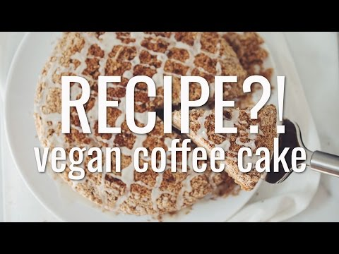 VEGAN COFFEE CAKE   RECIPE?! EP #13 (hot for food)