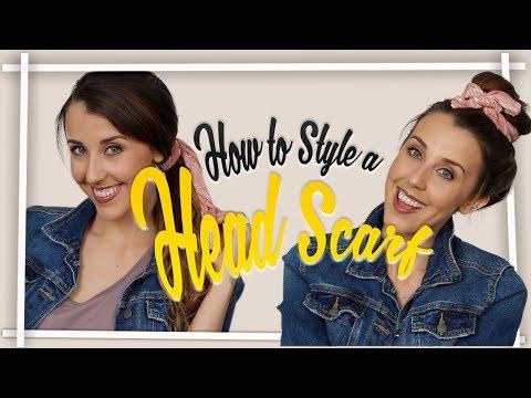 HOW TO STYLE A HEAD SCARF/BANDANA! SIMPLE HEAD SCARF HAIRSTYLES! HOW TO TIE A HEADSCARF