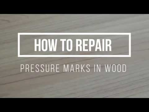 How to fix dents and pressure marks in Wood Flooring or furniture?