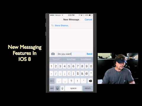 Send Voice Messages On iPhone ~ New iPhone Messaging Features In IOS 8