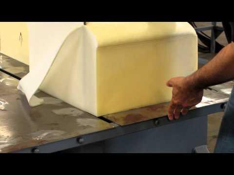 memory foam test cut 2