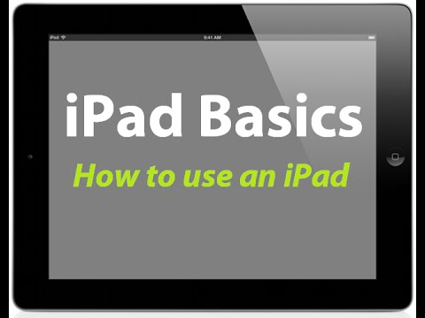 How to use an iPad - How to get started with your new iPad - iPad Basics Tutorial