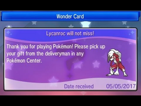 Pokemon Sun & Moon - Lycanroc (Midnight Form) Mystery Gift Event! Gamestop Event
