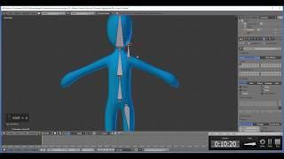 Tutorial Blender -  Animação de personagens parte 1 -  Bones e IK
