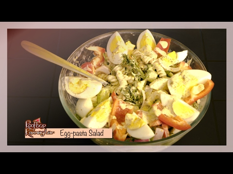Recipe of Egg Pasta Salad  Food Around the World
