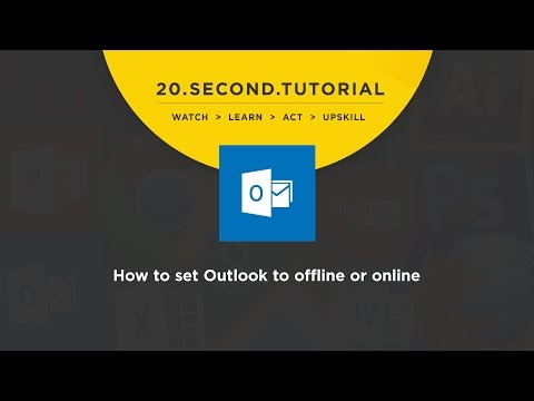 OLDIE - How to set Outlook to offline or online mode: MS Outlook Tutorial #8