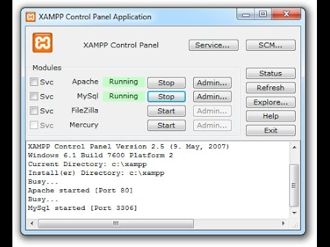 Installing XAMPP server on Windows xp_7_8_10