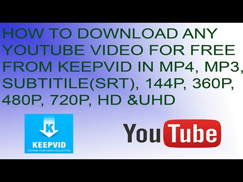 HOW TO DOWNLOAD ANY YOUTUBE VIDEO FOR FREE FROM KEEPVID