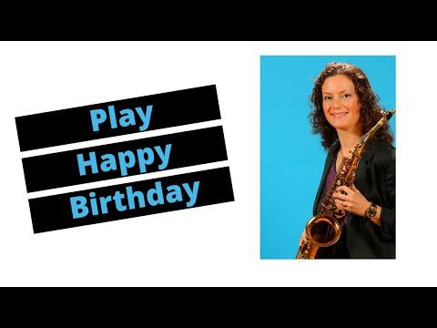 How to Play Happy Birthday on Alto Sax