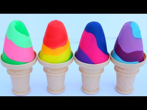Play Doh Super Ice Cream Cone Modelling Clay Barbie Doll Play Doh Kids Video